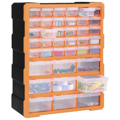 vidaXL Organizador multicajones con 39 cajones 38x16x47 cm