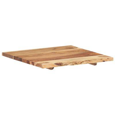 vidaXL Encimera para armario tocador madera maciza acacia 60x55x2,5 cm