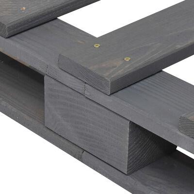 vidaXL Estructura de cama de palés madera maciza pino gris 140x200 cm