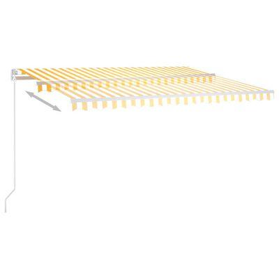 vidaXL Toldo automático LED sensor de viento amarillo blanco 400x300cm