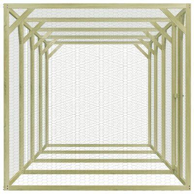 vidaXL Gallinero de madera de pino impregnada 1,5x6x1,5 m