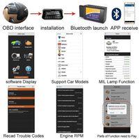 Lector de código de error OBD2 Bluetooth - para Android / Windows