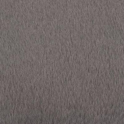 vidaXL Alfombra de pelo sintético de conejo gris oscuro 160 cm