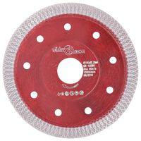 vidaXL Disco de corte de diamante con agujeros acero 115 mm