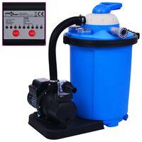 vidaXL Bomba filtro de arena con temporizador 550 W 50 L