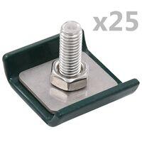 vidaXL Conector de enrejado 25 sets verde