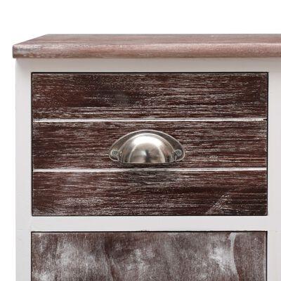 vidaXL Aparador con 10 cajones madera marrón 113x30x79 cm