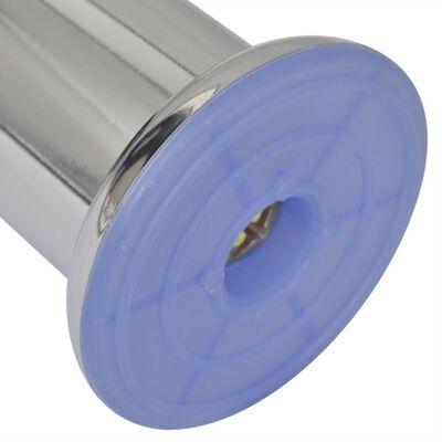 4 Patas Redondas para Sofá 60 mm (Color Cromo)