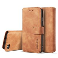 Funda para teléfono móvil para iPhone 7/8 - piel sintética - marrón