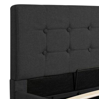 vidaXL Cama canapé hidráulica almacenaje tela gris oscuro 100x200 cm