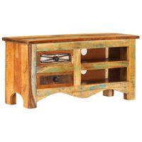 vidaXL Mueble para la TV madera maciza reciclada 80x30x40 cm