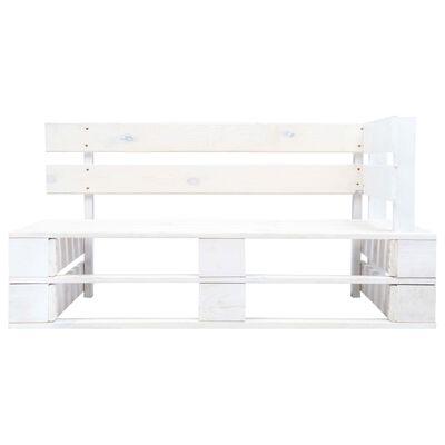 vidaXL Sofá de palets 2 plazas cojines blanco madera pino impregnada
