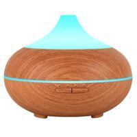 Humidificador ultrasónico con lámpara de aroma 500 ml marrón claro