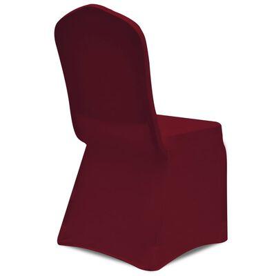 vidaXL Funda de silla elástica 18 unidades color burdeos