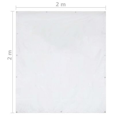 vidaXL Pared lateral de carpa de jardín PVC 2x2 m blanco 550 g/m²