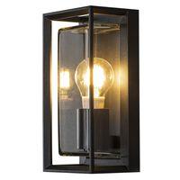 KONSTSMIDE Lámpara de pared Brindisi vidrio negro mate