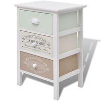 vidaXL Mueble de almacenaje estilo francés 3 cajones de madera