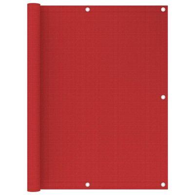 vidaXL Toldo para balcón HDPE rojo 120x500 cm