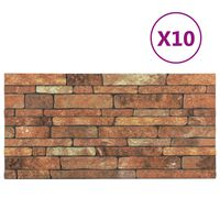 vidaXL Paneles de pared 3D diseño ladrillo marrón 10 pzas EPS