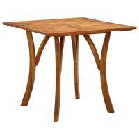 vidaXL Mesa de jardín de madera maciza de acacia 85x85x75 cm
