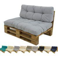Sofá de palet + cojín de asiento + cojín respaldo