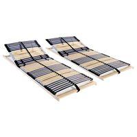 vidaXL Somieres de cama 2 uds con 42 láminas 7 zonas 70x200 cm