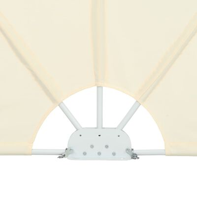 vidaXL Toldo lateral plegable terraza color crema 300x150 cm