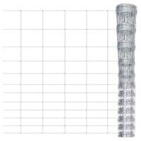 vidaXL Valla de jardín de acero galvanizado plateado 50x1,6 m