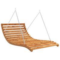 vidaXL Tumbona columpio madera de abeto acabado de teca 143x120x65 cm