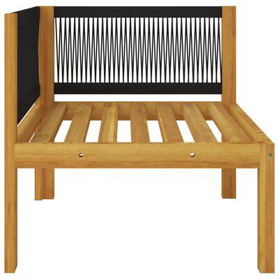 vidaXL Sofá de esquina para jardín con cojines madera maciza de acacia