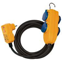 Brennenstuhl Cable protegido de 4 vías RCD con powerblock 10 m negro