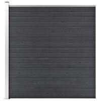 vidaXL Valla de jardín de WPC gris 180x186 cm