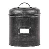 LABEL51 Bote de almacenaje negro envejecido L 18x18x24 cm