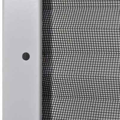 vidaXL Mosquitera plisada para ventanas aluminio 60x80cm