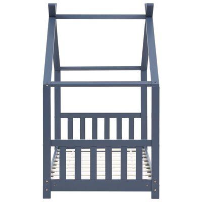 vidaXL Estructura de cama infantil madera maciza pino gris 80x160 cm