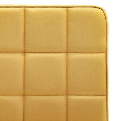 vidaXL Sillas de comedor 4 unidades tela amarilla