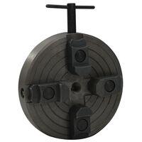 vidaXL Torno de madera 4 mordazas conexión M18 acero negro 150x63 mm