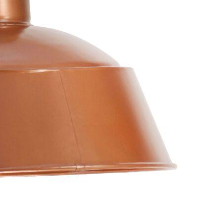 vidaXL Lámpara colgante industrial 32 cm cobre E27