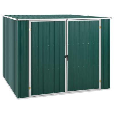 vidaXL Cobertizo de jardín acero galvanizado verde 195x198x159 cm