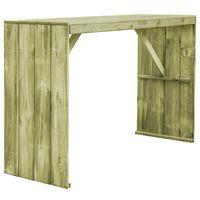 vidaXL Mesa de bar de madera de pino impregnada 170x60x110 cm