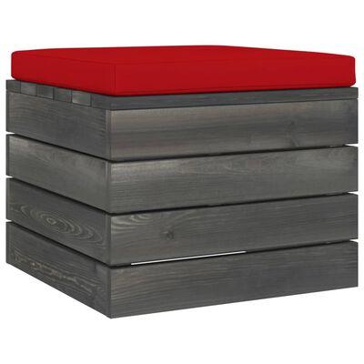 vidaXL Muebles de palets de jardín 6 piezas cojines madera maciza pino