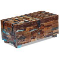 vidaXL Mesa de centro cofre de madera maciza reciclada 80x40x35 cm