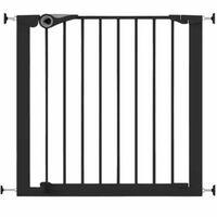 Noma Puerta de seguridad Easy Pressure Fit 75-82 cm metal negra 94313