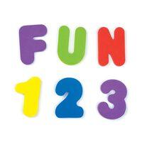 Munchkin Juguete para el baño letras y números 36 piezas multicolor