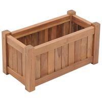 vidaXL Arriate de madera maciza de teca 50x25x25 cm