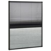 vidaXL Mosquitera plisada para ventanas aluminio con sombra 80x100cm