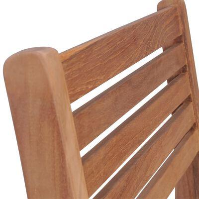 vidaXL Sillas apilables de jardín 6 uds madera de teca con cojines
