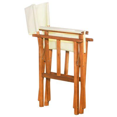 vidaXL Silla de director de madera maciza de acacia