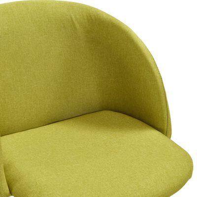 vidaXL Silla de comedor 2 unidades tela verde