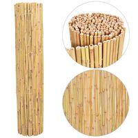 vidaXL Valla de bambú 300x130 cm
